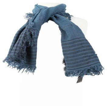 Fendi FF Monogram Two-Tone Scarf - Blue/Cream
