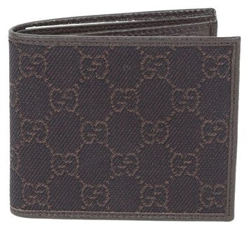 Gucci GG Guccissima Canvas Denim With Leather Wallet - Brown