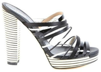 Fendi Black & White Sandals