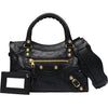 Balenciaga Giant 12 Gold Mini City Bag - Black