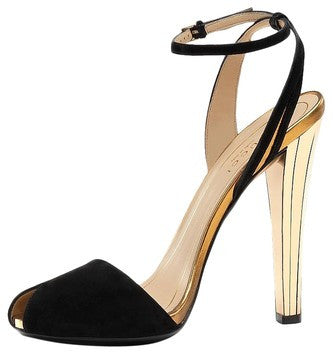 Gucci Delphine High Heels Open Toe Black Sandals