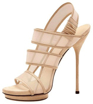 Gucci Bette High-Heeled Pratt Light Powder Sandals