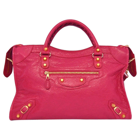 Balenciaga Classic City Giant Shoulder Bag - Pink