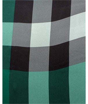 Burberry Women Mega Check Satin Silk Scarf Bright Forest Check - Green