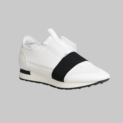 White Race Runners Sneaker