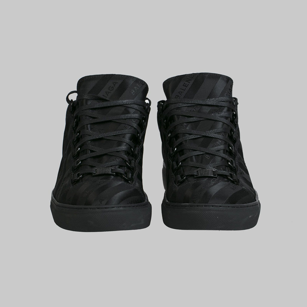 Black Logo High Sneakers