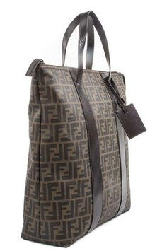 Fendi Mens Business Zucca - Brown Tote Bag