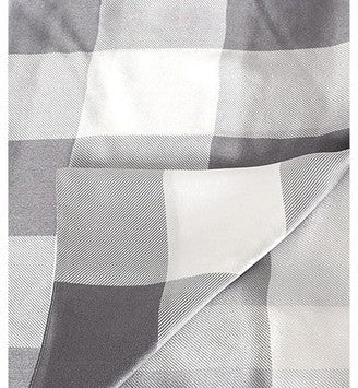 Burberry Women Mega Check Satin Silk Scarf Pale Melange Check - Grey
