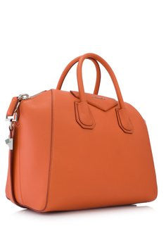 Givenchy Small 'Antigona' Orange Tote Bag