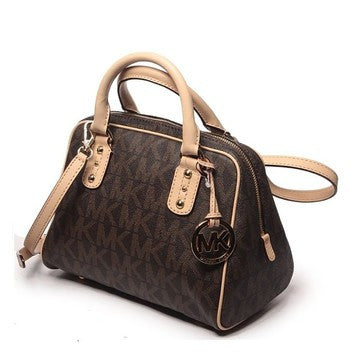 Michael Kors Mk Signature Small 35f1gmks3b Brown Satchel