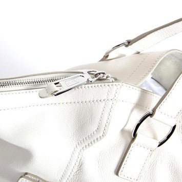 Yves Saint Laurent 'Downtown' Leather - Ivory Tote Bag