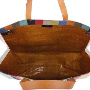 Fendi Stripe Canvas Shopping 8bh235 - Multicolor Tote Bag