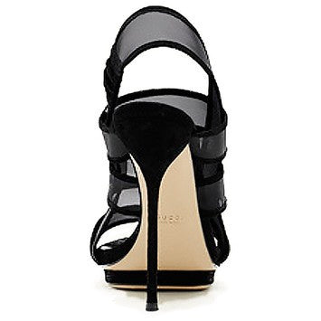 Gucci Bette High-Heeled Platform Black Sandals