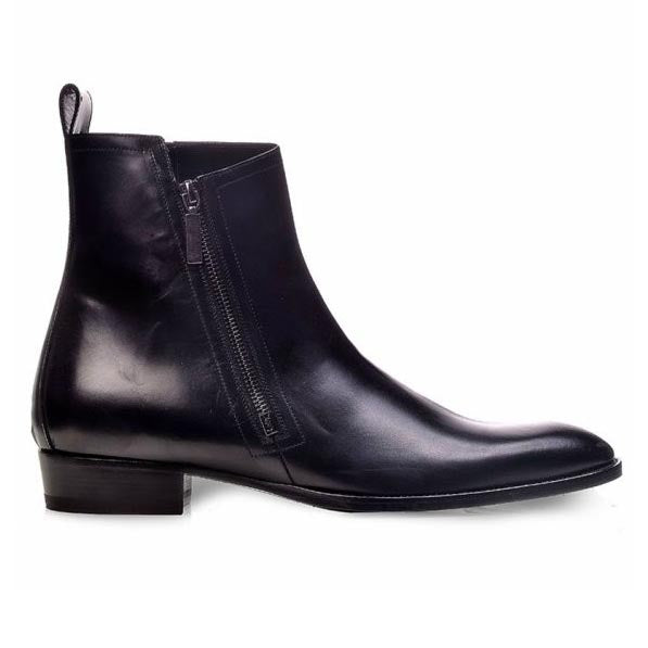 Saint Laurent Wyatt 30 Zip Boots