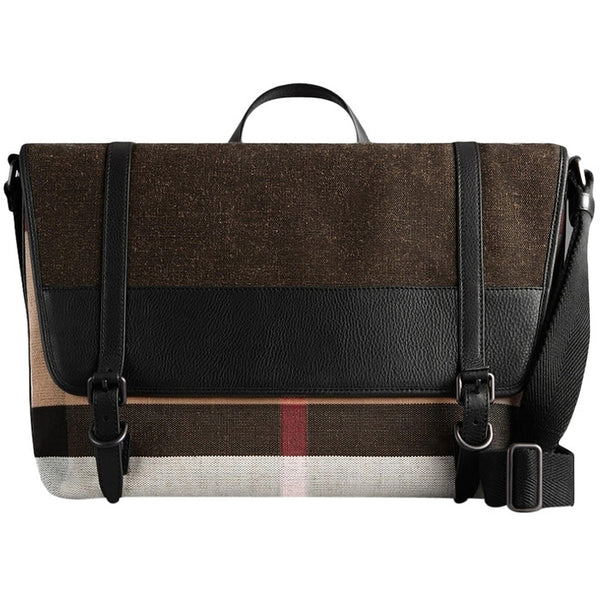 Burberry Canvas Check Messenger Bag - Black – eDesignerShop 015690aa120f1