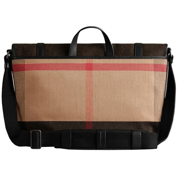 Burberry Canvas Check Messenger Bag - Black