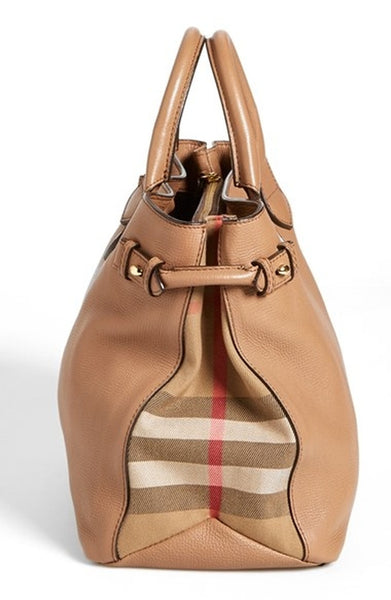 Burberry Medium Banner Leather Tote Bag - Brown