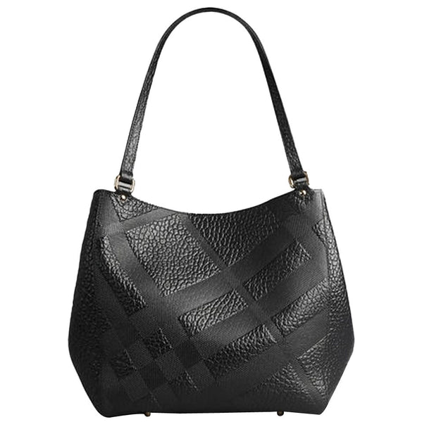 2c887db864fd Burberry Small Canter In Embossed Check Leather Tote Bag - Black ...