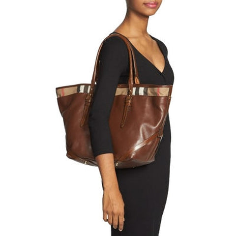 Burberry 'Medium Salisbury' Tote Beige Brown