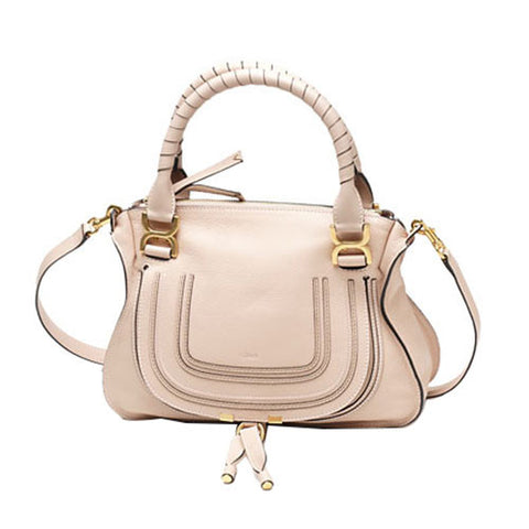 Chloe Marcie Small Shoulder Bag - Blush Nude