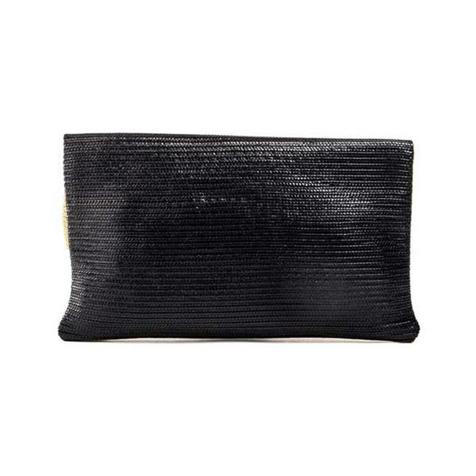 Fendi Foldover - Gold/Black Clutch