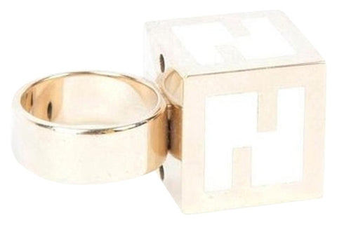 Fendi Cube Ring White
