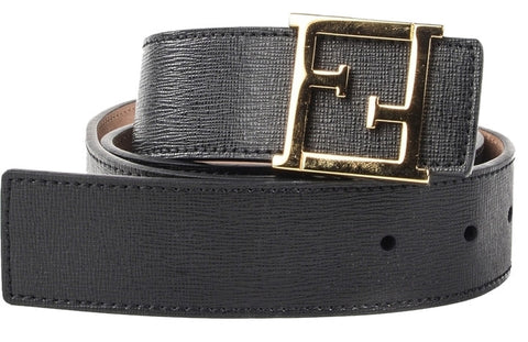 Fendi Leather Belt - Black