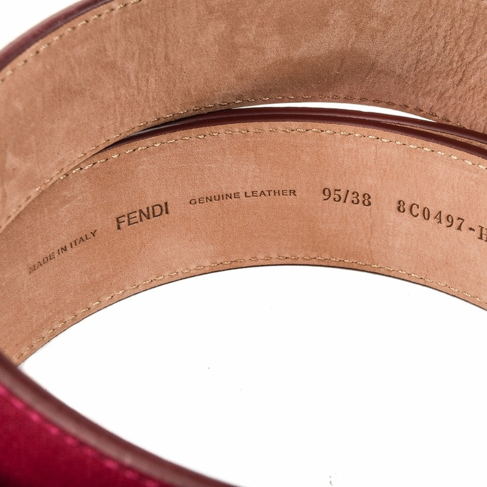 Fendi Leather Belt - Red