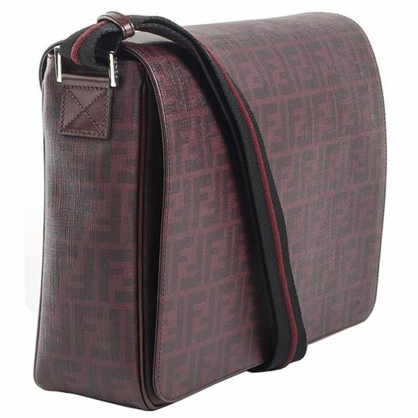 Fendi Leather Flap 7va195 - Burgundy Messenger Bag