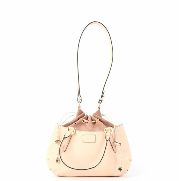 Fendi 'B Fab' Leather Drawstring Bag