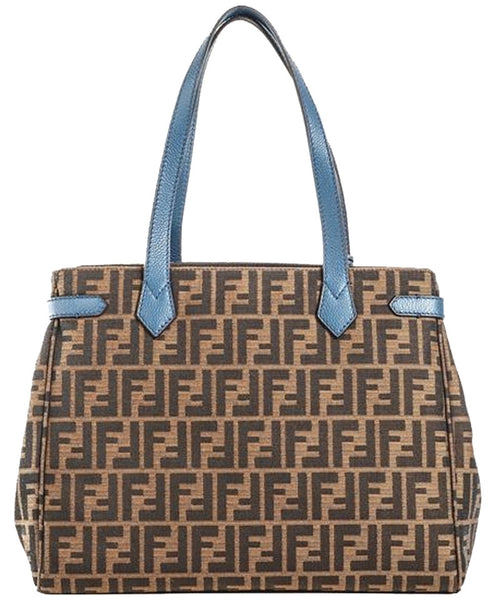 Fendi Double Handle Tote Brown