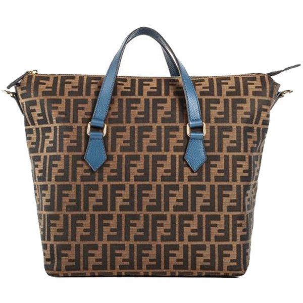 Fendi Top Fabric Leather Handle - Shoulder Bag