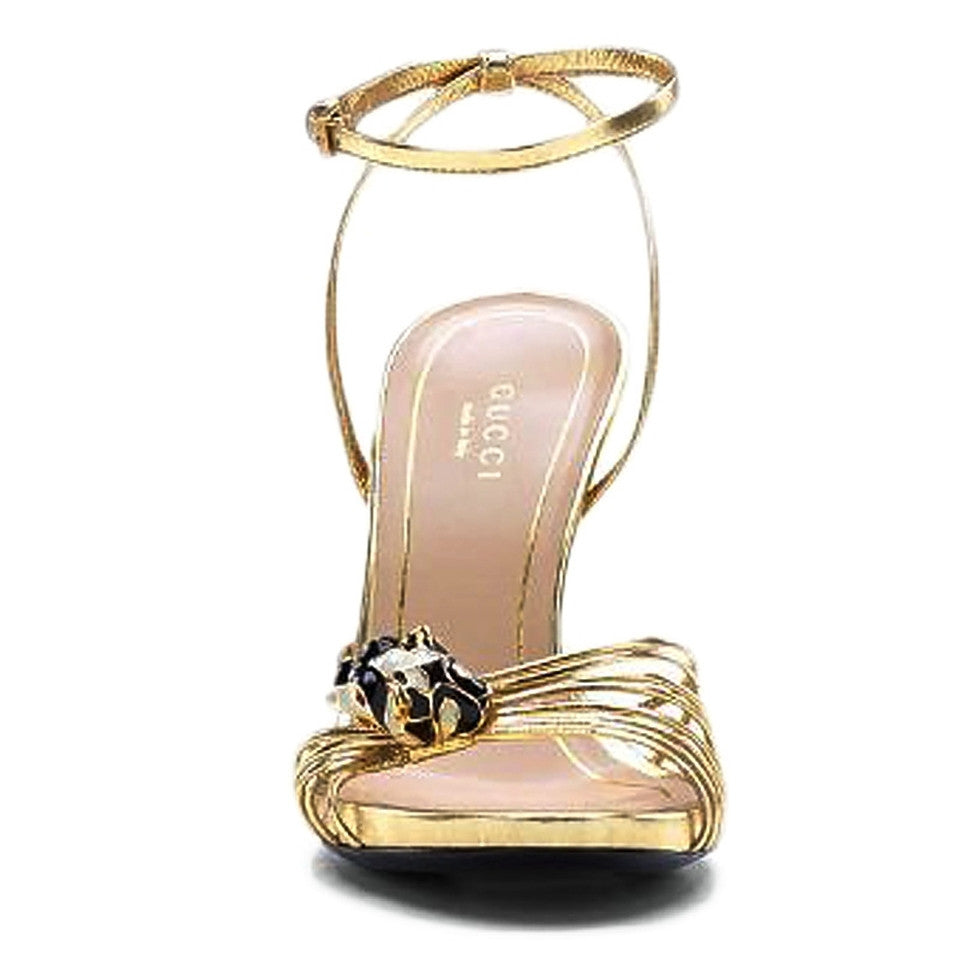 Gucci Animal Mule Gold Sandals