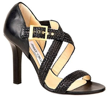 Jimmy Choo Leather Spa Black Sandals