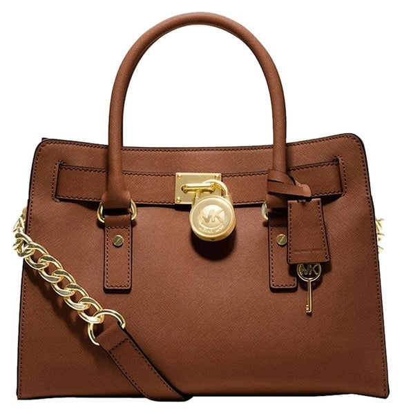 Michael Kors Hamilton East West Medium Leather Luggage (brown) Brown Satchel