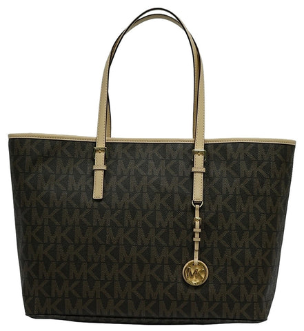 Michael Kors Jet Set Medium Multifanction 30t3gtvt6b Brown Tote Bag