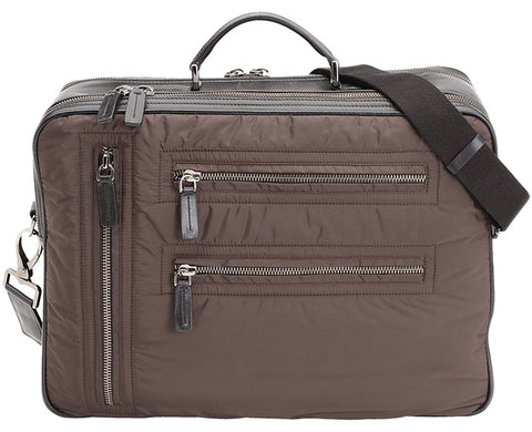 Tod's Pashmy Nylon And Leather Briefcase - Brown Travel Bag