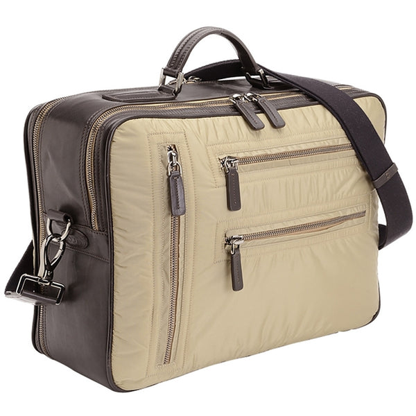 Tod's Pashmy Nylon And Leather Briefcase - Beige Travel Bag