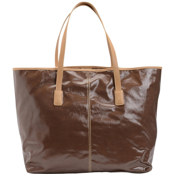 Tod's Shiny Shopping Media - Cacao Tote Bag