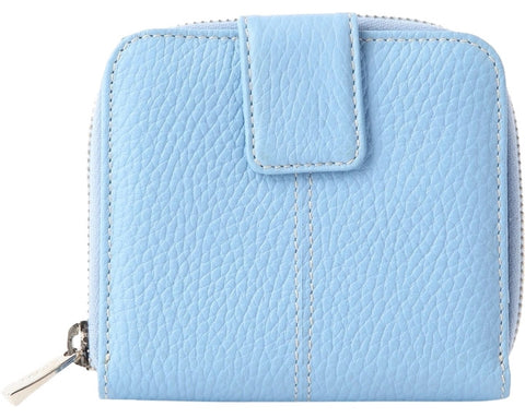 Tods Leather Snap Wallet - Blue