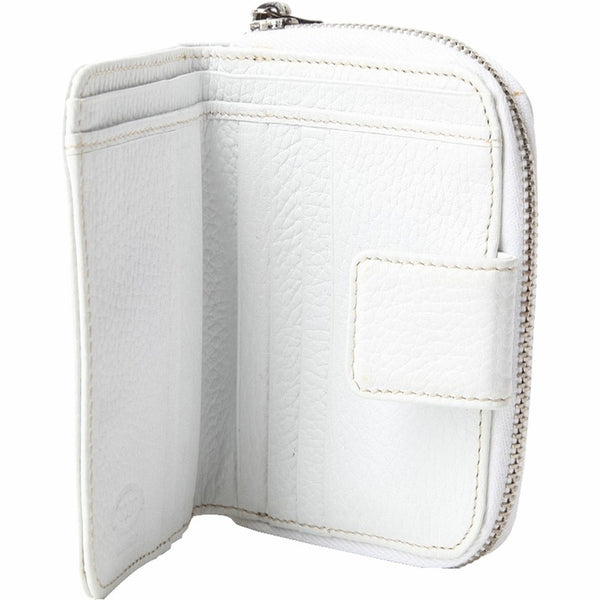 Tods Leather Zip Wallet - White