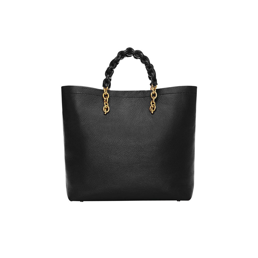 Tom Ford Carine Medium Grained Leather Tote Bag - Black