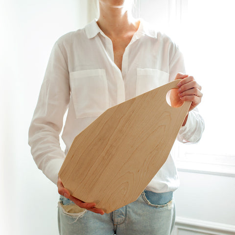 American-made Maple Geometric Board by Butternut Brooklyn - Carpenter Hill