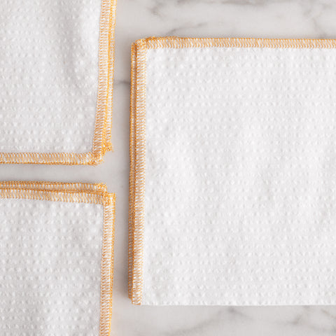 American-made Gold Edge Cocktail Napkins by Dot and Army - Carpenter Hill