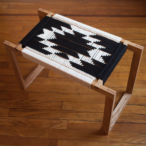 American-made Black + White Stool by Peg Woodworking - Carpenter Hill