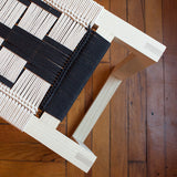 American-made Black + White Bench by Peg Woodworking - Carpenter Hill