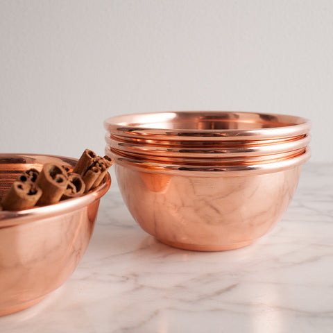 Set of Copper Bowls