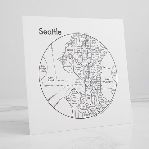 Seattle Letterpress Print