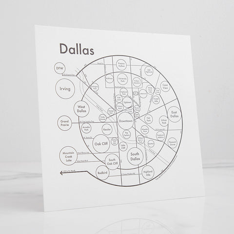 Dallas Letterpress Print