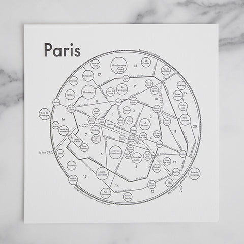 Paris Letterpress Print
